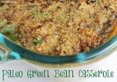 This paleo green bean casserole has it all – it's creamy, crunchy, crispy, and oh so comforting. The combination of caramelized onions, bacon and fresh green beans sounds tempting already, but when you cover it all with homemade creamy mushroom soup and then top it off with some crunchy almond flour – well, then…