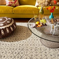 Vintage Vibe carpet tile in Cream from FLOR