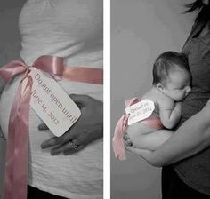 Great use of maternity sash from My Little Lovie - www.mylittlelovie.com #genderreveal