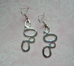 Ohrringe Geometrisch silber abstrakt von MiMaKaefer auf DaWanda.com