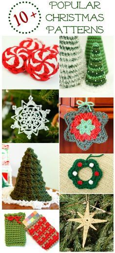 Get cozy with some hot cocoa and make crochet Christmas crafts and crochet Christmas presents! Popular Free Christmas Crochet Patterns - Petals to Picots Crochet Christmas Decorations, Christmas Crochet Patterns, Crochet Ornaments, Holiday Crochet, Christmas Knitting, Yarn Crafts, Christmas Projects, Christmas Crafts, Crochet Gratis