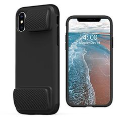 472f3c625 KUUFER Two-Layer Defender iPhone X Case with Game Handles Compatible for  Apple iPhone X 2017 (black)
