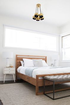 "Homepolish Interior Design | This <a href=""http://www.crateandbarrel.com/linea-bed/f34490"" target=""_blank"">bed</a> was one of my favorite finds. If you've ever searched for an affordable modern wooden bed, you'll know it's not easy to find one that isn't $150,000. And it kind of makes me want a new bed to replace <a href=""http://hommemaker.com/2014/08/07/a-new-bedroom-gets-newer-with-some-new-newness/"" target=""_blank"">my new one</a>."