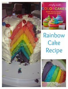 This Rainbow Cake was the hit of our extended family Easter celebration!