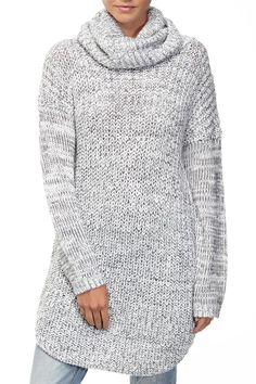 winter chunky roll neck tunic