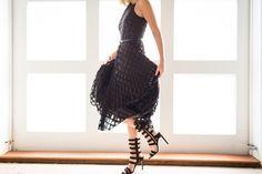 Dancing in my favorite new dress!
