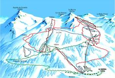 Here a piste map of ski area La Norma in France.