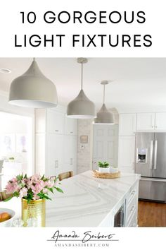 You guys I am so excited to write this post! When it comes to interior design there is nothing that gets me more excited than light fixtures! Soooooo I decided to do a little round up of some of my favorites with links! Enjoy!