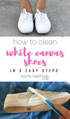 How to Clean White Canvas Shoes in 5 Easy Steps   Cleaning Hacks   Wardrobe Maintenance   Rooms Need Love