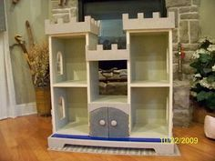 Castle Bookcase, purrfect for our new kitten to climb on!