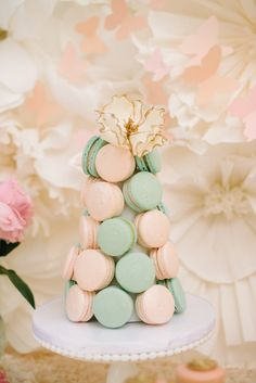 Laduree Inspired Baby Shower  Photography: Krista Mason Photography - kristamason.com/  Read More: http://www.stylemepretty.com/living/2014/11/10/high-tea-baby-shower/