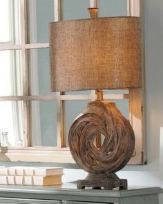 Gray Driftwood Knot Table Lamp #kirklands #coastalliving #lamp