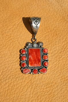Vintage Look Spiny Oyster Pendant   Silver Eagle Gallery