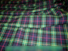Scottish Tartan fabric Kilt Blanket Rugs material Burns Night Table Spread cloth