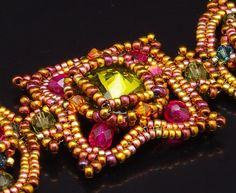 Beadweaving Tutorial Bollywood Bracelet Pendant and by NEDbeads, $12.50