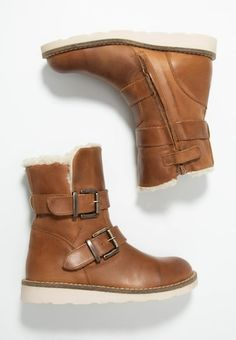 Stiefelette - mid brown Biker, Booty, Ankle, Shoes, Fashion, Dark Brown, Get Tan, Moda, Swag