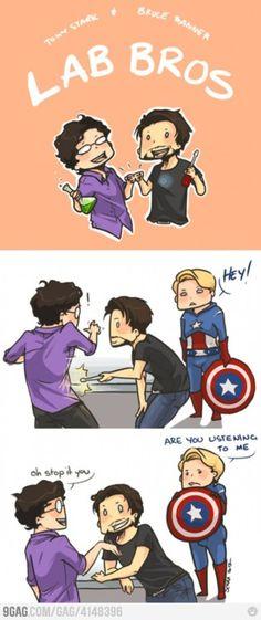 Lab Bros - Tony Stark and Bruce Banner