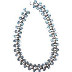 Vintage Machine Age Choker Necklace --- found at www.rubylane.com #vintagebeginshere