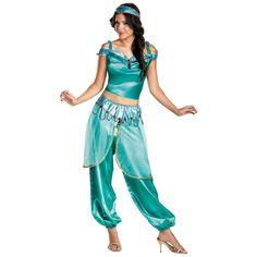 Jasmine Deluxe Costume Adult Disney Princess Halloween Fancy Dress in Clothing, Shoes & Accessories, Costumes, Reenactment, Theater, Costumes | eBay