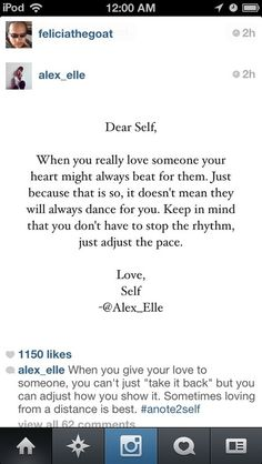 Words from the one and only Alex Elle.. <3
