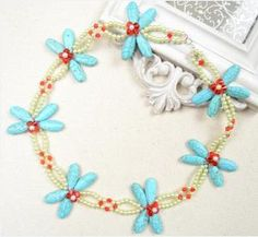 Beaded Necklace Idea-Making a Turquoise Dragonfly Necklace with Pearl and Glass Beads - Pandahall.com by Jersica
