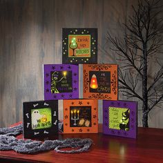 LIGHTED BOODAZZLED CANVAS 6 ASSORTED
