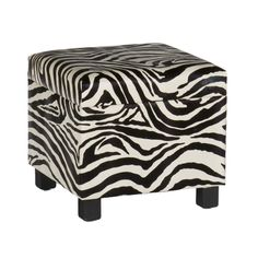 Wild Side Storage Ottoman | dotandbo.com Always love to add an animal print to the room!