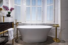Take a sneak peak at some images of the Stock Exchange Hotel prior to its opening in November Hotel Website, Listed Building, Clawfoot Bathtub, Manchester, Luxury, November 2019, Home, Bathroom, Design