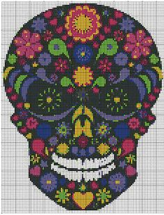 Teschio Messicano Fiorito - Skull Mexican Flower
