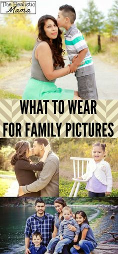 Great tips! What to wear for family pictures