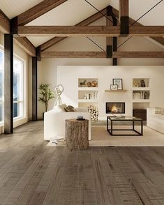 Beautiful farmhouse design interior that you can comfortably .- Schönes Bauernhaus-Design-Interieur, das Sie komfortabel machen wird Beautiful farmhouse design interior that will make you comfortable – - Modern Farmhouse Living Room Decor, Farmhouse Design, Interior Design Living Room, Living Room Designs, Interior Decorating, Farmhouse Decor, Decorating Ideas, Room Interior, Modern Living