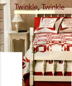 Twinkle Twinkle Quilt Pattern Pieced/Embroidery NS Star Quilts, Twinkle Twinkle, Quilt Patterns, Beds, Quilting, Embroidery, Blanket, Home Decor, Needlepoint