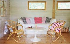 CIRKUS: livingroom Outdoor Furniture Sets, Outdoor Decor, Log Homes, Wordpress, Cottage, Log Cabins, Houses, Summer, Home Decor