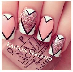 Cute heart nail designs