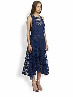 Chloé - Graphic Lace Dress - Saks.com