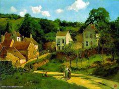 Camille Pissarro(1830ー1903)「Coteaux de l'Hermitage à Pantoise」