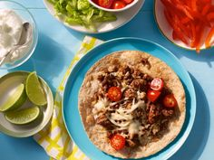 Recipe of the Day: Kid-Friendly Quesadilla Bar          Start with a meaty filling of seasoned ground beef, then let kids add their preferred toppings, like bell peppers, romaine and cherry tomatoes.            #RecipeOfTheDay