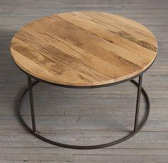 Resultado de imagen para mesa hierro madera redonda