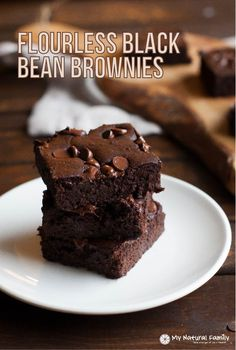 Flourless Black Bean Brownies Recipe