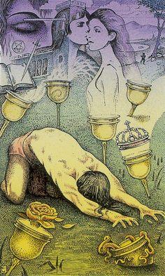 Seven of Cups - Cosmic Tarot by Norbert Losche