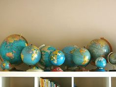 I love how all these blue globes are globes are grouped together.
