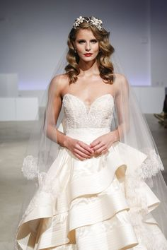 Some of the prettiest wedding hair trends from Bridal Fashion Week 2017…