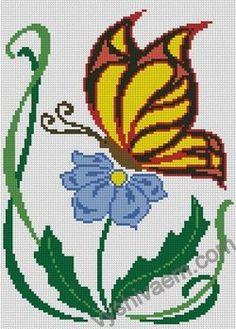 маленькие схемы бабочек на детскую одежду №53562