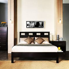 Riva Queen-Size Platform Bed, Espresso