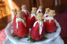 Cute Baby Shower Appetizers | Strawberries Divine and a Virtual Baby Shower | The Sisters Cafe