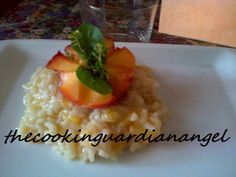 Risotto with peaches