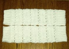 Crochet Bernat Satin Legwarmers   Free Crochet Pattern