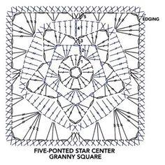 Resultado de imagen de star granny square crochet grafic
