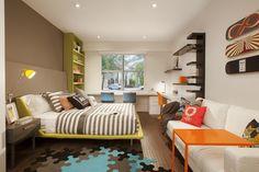 Jugendzimmer Ideen - Patchwork Teppich mit stilvollen Mustern