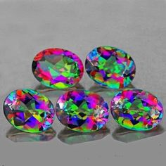 Natural Rainbow Mystic Topaz 4.80 carats